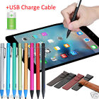 HOT Screen Touch Pen Stylus With USB Charging Wire For iPad Pro/2/3/4/mini/Air
