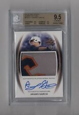 ARAMIS GARCIA 2014 LEAF TRINITY JUMBO GIANTS 3 COLOR PATCH AUTO RC BGS 9.5 10