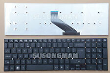 New Keyboard UK For Packard Bell EasyNote TS44SB TS45HR TG71BM Black No Frame