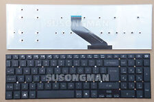 New Keyboard UK For Packard Bell EasyNote P5WS0 TS13SB TS44HR Black No Frame