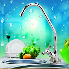 US Under Sink Drinking Water Tap Filter Kit System Chrome Rotary Switch Faucet