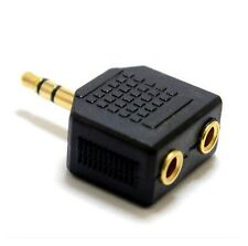 3.5mm Male to 2 X 3.5mm Female Earphone Headphone Y Splitter Cable Adapter A24
