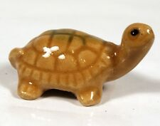 Chinese Bonsai Mudman Figurine - Glazed Brown Turtle Authentic, Hand-Made MM234