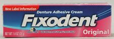 Fixodent Denture Adhesive Cream Original 1.4 Oz, 3 Pack