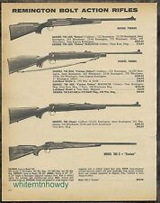 1980 REMINGTON 700 ADL Deluxe,700BDL, Classic, C Custom Rifle AD