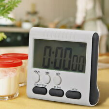Large LCD Digital Kitchen Timer Loudly Games Alarm Count Up Down Clock 24 Hours