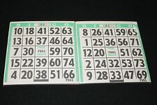BINGO PAPER Cards 1 on's singles  200 Green sheets  FREE SHIPPING IN US