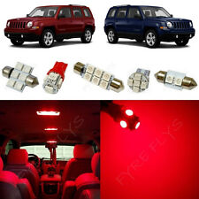 6x Red LED lights interior package kit for 2007-2015 Jeep Patriot JP1R