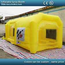6m yellow inflatable spray booth inflatable car paint booth tent