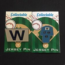 Chicago Cubs W  flag lapel pin/All-Stars-Collectable-#1 Best Seller-Champs-(2)