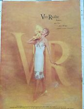 1960 women's VAN RAALTE shimmering satin suavette lace slip lingerie ad as is