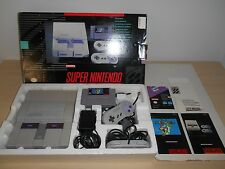 Super Nintendo System Complete SNES Console Super NES Mario World Set