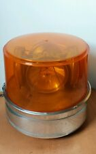 Vintage Rotating Amber Beacon Emergency Fire 4 Lights 12V