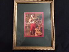 """Rare Santa Claus Picture Wall Art Framed 9"""" X 11"""" The Picture Peddlar 2047"""