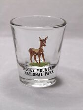 Rocky Mountain National Park With Fawn Shot Glass