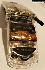 UNLOCKED Motorola StarTac 7000G pacific bell transparent for USA 1900mhz vintage