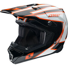 NEW ONE INDUSTRIES GAMMA CRYPTO MX ATV BMX  PREMIUM HELMET ADULT MEDIUM BLACK/OR