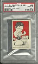 1947 D. Cummings & Sons - LOU AMBERS - Famous Fighters #38 - PSA 9 MINT