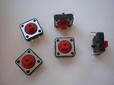 S01 - 100 Stk. Miniatur-Taster  Drucktaster  Eingabetaster 12x12x7 mm  12V