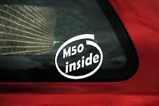 2x M50 inside sticker For BMW e36 320 325i e34 520,525i