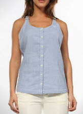 Fred Perry Women's Blue  CHAMBRAY RACERBACK TOP G9725 US6