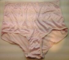 Women Panties,Briefs Size 8 Bright Pink Satin Soft Nylon W/Decoration