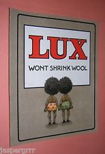 1908. ORIGINAL COLOUR LUX SOAP ADVERT. CHROMO PRINTING. VINTAGE ADVERTISING.
