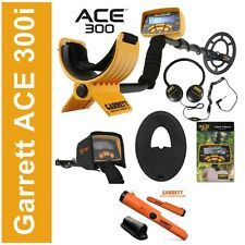 NUOVO METAL DETECTOR GARRETT ACE 300i ex ACE 250 CUFFIE PIASTRA PINPOINTER AT