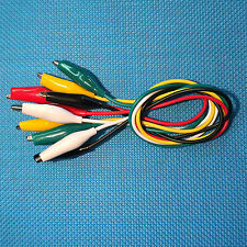 TEST LEAD ALLIGATOR CLIP JUMPER WIRE LOT OF 5