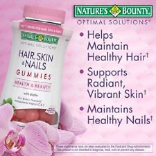 Nature's Bounty Hair, Skin and Nails  Biotin 230 Gummies - Strawberry - NEW