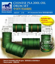Bronco Model kit 1/35 Chinese PLA 200L Oil Drum Set AB3519