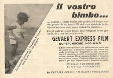 W2975 Gevaert Express Film - Il Vostro bimbo... - Pubblicità del 1932 - Old ad