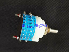 1PC ROTARY SWITCH 2 pole 23 position  Step volume Potentiometer for Pre-amplifie