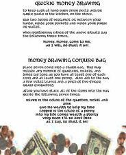 2 Quick Money Drawing Spells 1pg Wicca Book of Shadows Spells Page on Parchment