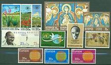 Zypern Jahrgang 1970 Nr. 330 - 344 ** MNH Kat. 10,20 €