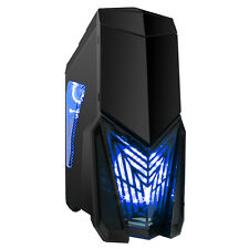 Game Max Destroyer Gaming PC Case with 3 x 12cm 15 Blue LED fans 1 x 12cm 4 LED