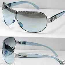 New DG Eyewear Mens Designer Shield Blue Wrap Pilot Sunglasses Fashion Shades