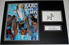 SERGIO AGUERO MANCHESTER CITY PERSONALLY SIGNED AUTOGRAPH PHOTO MOUNT SOCCER