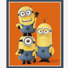 """Despicable Me 1 In a Minion orange 100% cotton 43"""" fabric by the Panel  (35.5"""")"""
