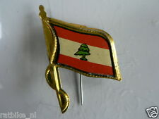 PINS,SPELDJES 50'S/60'S COUNTRY FLAGS 46 LIBANON VINTAGE VERY OLD VLAG