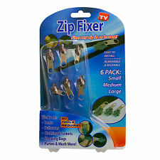 Zip Fixer Instant Easy Use Small Medium Large Reusable TV Accessories 6 pack