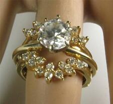 Engagement Ring Guard Enhancer Jacket Wrap 0.50CT Diamond 14K Yellow Gold sz 5