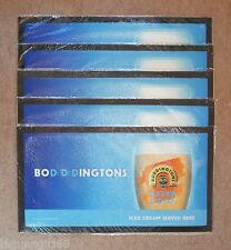 5 Boddingtons Extra Cold Rubber Backed Bar Runners Beer Pub Bar New Sealed
