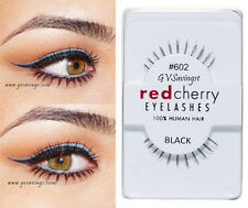 NIB~ Red Cherry #602 False Eyelashes Fake UNDER BOTTOM Lashes Black Strip