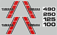 1983 YAMAHA YZ 100 125 250 490 TANK & SIDE PANEL DECALS