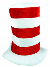Adult Striped Cat In The Hat Fancy Dress World Book Day Character Dr Suess New