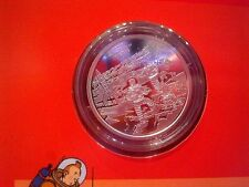 50 anniversary SILVER MEDAL tintin explorers on the moon 2004