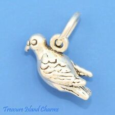 TURTLE DOVE 12 DAYS OF CHRISTMAS 3D .925 Solid Sterling Silver Charm