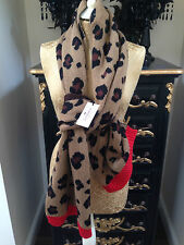 BNWT JUICY COUTURE LEOPARD PRINT SCARF