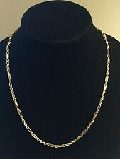 "Men's Solid 14K Yellow Gold Fancy Link, Twisted Rope Chain Necklace 22"" 3mm 19g"